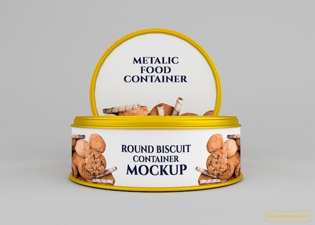 Мокап банки для печенья с закругленными углами