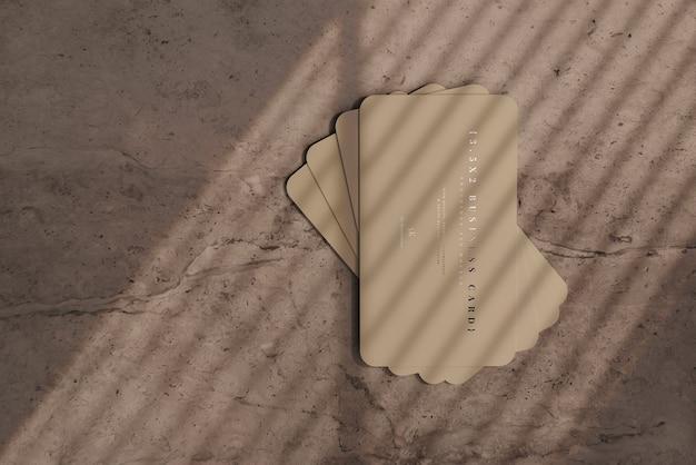 Макет визиток с закругленными углами