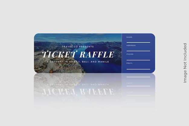 둥근 모서리 티켓 모형