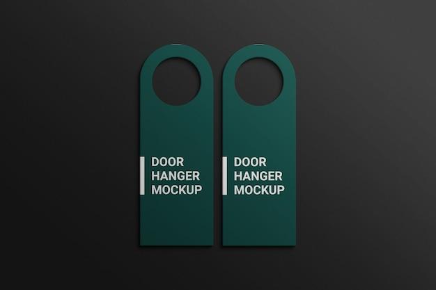 Rounded door hanger mockup premium psd
