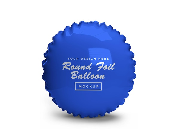 Rounded foil balloon 3d mockup design