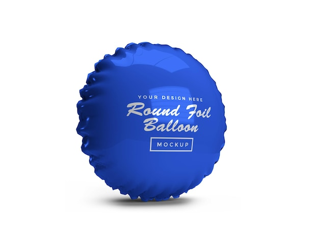 Rounded foil balloon 3d mockup design