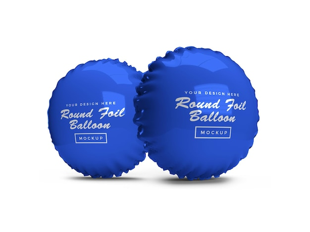 Rounded foil balloon 3d mockup