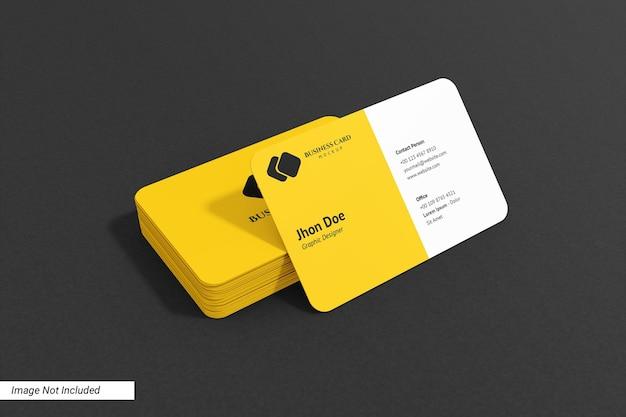 Закругленный пейзаж макет визитной карточки