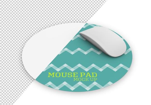 Закругленный макет коврика для мыши