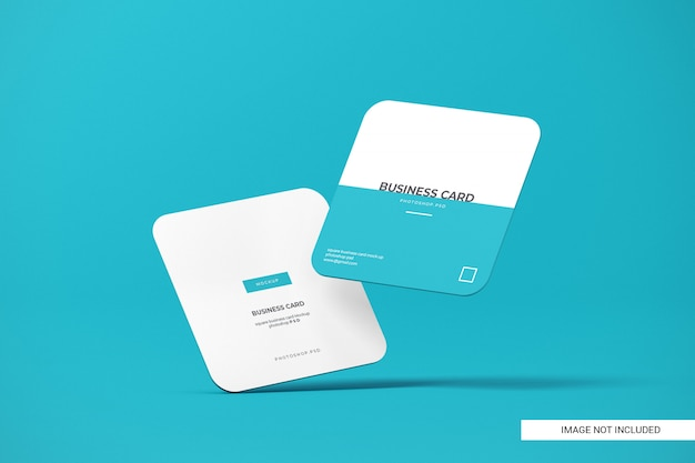 Rounded square business card mockup Premium Psd