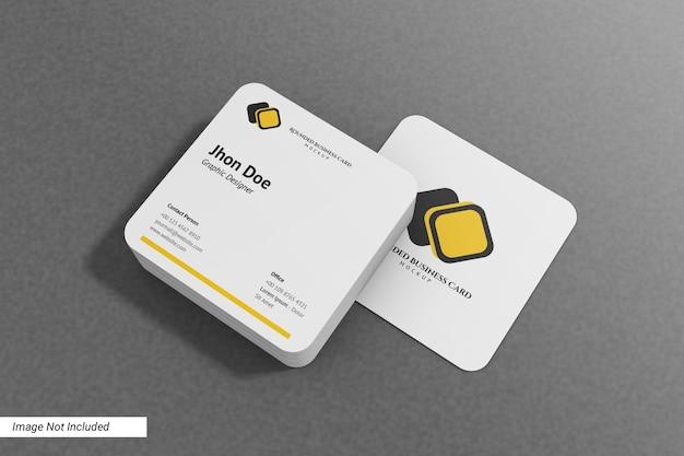 Мокап визитной карточки с закругленными углами