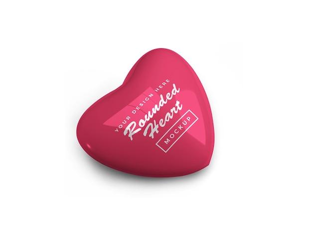 Дизайн макета округлые валентина сердце изолированные