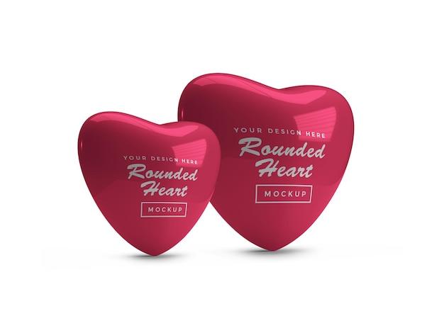 둥근 발렌타인 하트 모형 디자인