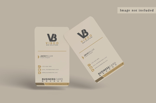 Rounded vertical business card mockup