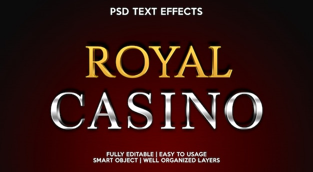 Шаблон текстового эффекта royal casino
