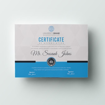 Royal certificate template