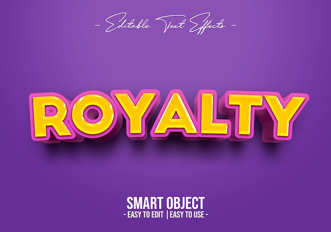 Royalty text style effect