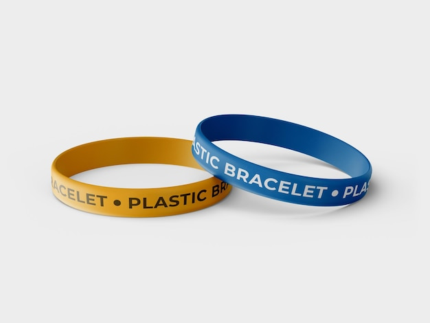 Rubber bracelet mockup