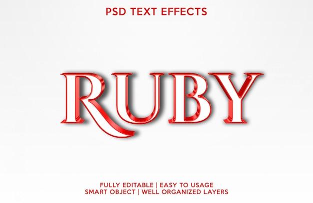 Рубиновый текстовый эффект