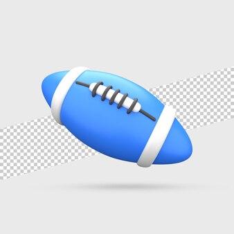 Мяч для регби 3d визуализации