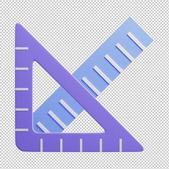 Ruler 3d illustration