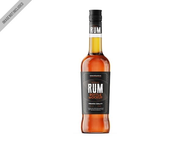 Rum glass mockup template