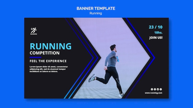 Running competition banner template