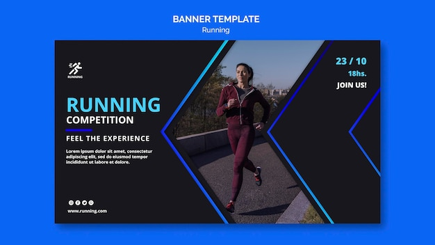 Running competition template banner