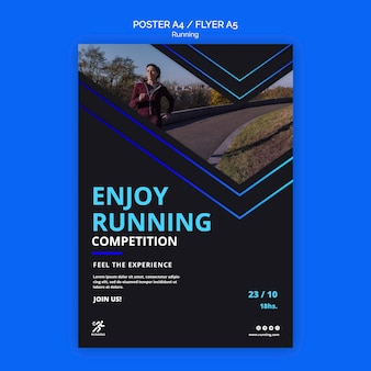 Running competition template poster