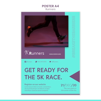 Running training flyer template