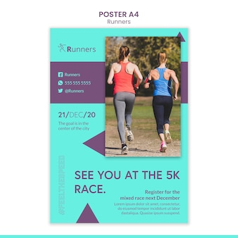 Running training poster template
