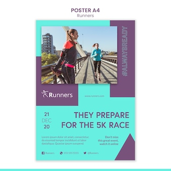 Running training template poster