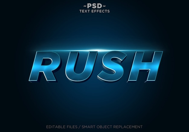 Rush blue effects редактируемый текст