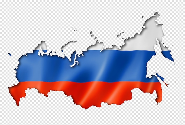 Карта российского флага Premium Psd