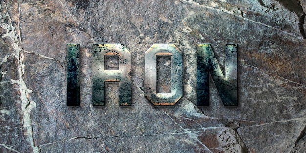 Rustic iron text style effect