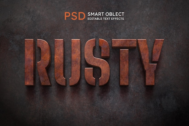 Rusty text style effect