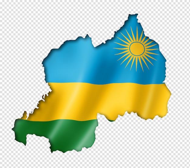 Руанда флаг карта