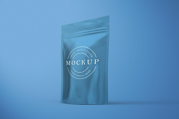 Sachet mockup design isolated in 3d rendering