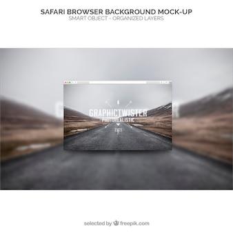 Safariのブラウザの背景モックアップ