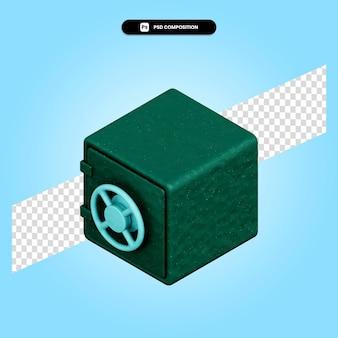 Сейф 3d визуализации изолированных иллюстрация