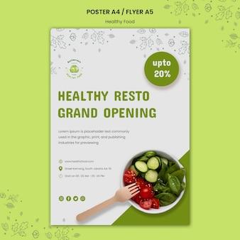 Modello di poster per alimenti sani e sicuri