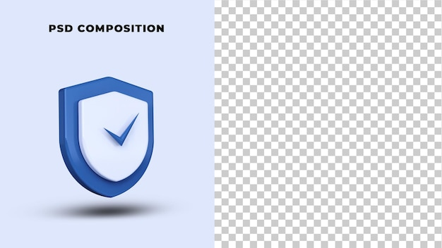 Safety security logo 3d rendering isolated