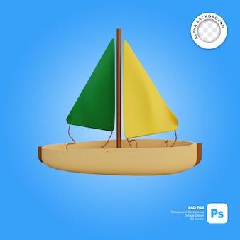 ヨットの3dオブジェクト