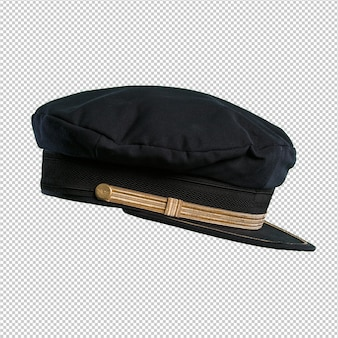Sailor hat over white background