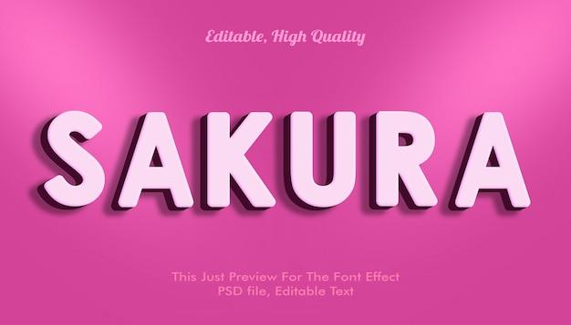 Макет эффекта шрифта сакуры