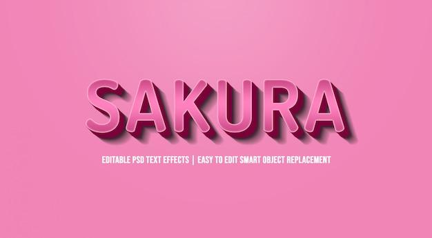 Сакура в розовых градиентных текстовых эффектах