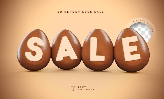 Sale 3d render in egg format easter