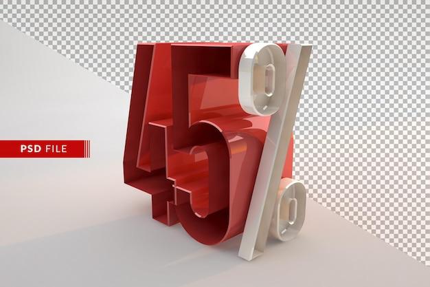 Скидка 45% на рекламную 3d изолированную концепцию