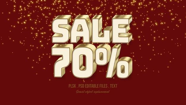 Sale 70% 3d text style effect