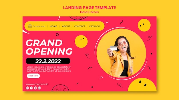Sale ad landing page template