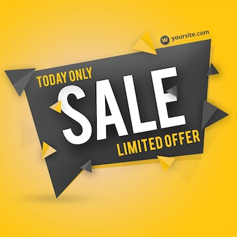 Sale banner badge psd