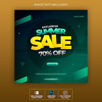 Sale banner badge socila media premium