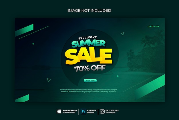 Sale banner badge web banner template