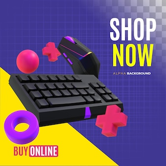 Sale banner of computer accessories
